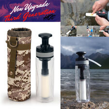 5000L Outdoor 3-Stage Portable Hand pressed Water Filter Bottle Survival Tools