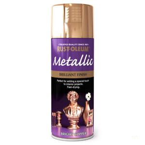 Metallic Multi-Purpose Spray Can Paint Fast Dry Craft Hobby Wood Metal Ceramics