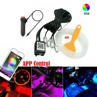 4M Auto RGB LED Ambientebeleuchtung Innenraumbeleuchtung Lichtleiste APP Control