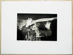 """Radierung """"rozejść się!"""",1986,Grzegorz Banaszkiewicz(*Czestochow 1951), 37x28 cm"""