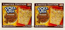2 boxes Pop Tarts Toaster Pastries Frosted Pumpkin Pie 12 Count each NEW Fresh