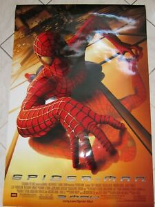 """SPIDER-MAN 2002 Original D/S Double Sided 27x40"""" Movie Poster Sam Raimi Maguire"""