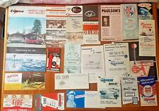 1961 Portland Boat Show Brochures Flyers Trailers Motors Criss Craft Chattin etc