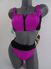 Vintage Body Glove Bikini Neoprene Pink Black NEW size M