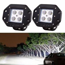 2 20W Cree Flood LED Work Light Bar Flush Mount Fog DRL Offroad SUV 4WD Jeep ATV