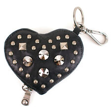 100% Authentic Miu Miu Studded Heart Leather Coin Wallet Purse