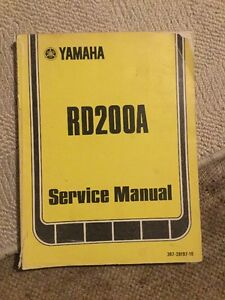 Yamaha RD200 A Genuine Service Manual Owners