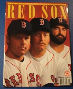 Boston Red Sox Official Yearbook 1992 Roger Clemens Frank Viola Jeff Reardon