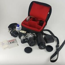 Pentax Asahi ME 35mm SLR Film Camera Bundle With Case, Lens' etc