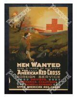 Historic WWI Recrutiment Poster Red Cross foreign service Postcard