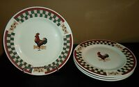 (4) Citation Betty Crocker COUNTRY INN Dinner Plates ROOSTER