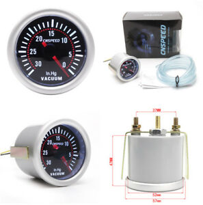 "Fashion Gray Car Vehicle Interior Vacuum Gauge 30-0 In.Hg 2""/52mm Diameter"