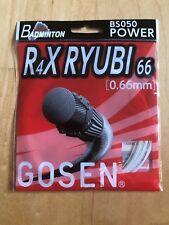 Gosen Badminton string R4X RYUBI, 0,66 mm, set 10m, White