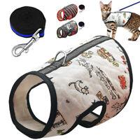 Cat Walking Jacket Harness & Lead Escape Proof Adjustable Pet Puppy Vest Clothes