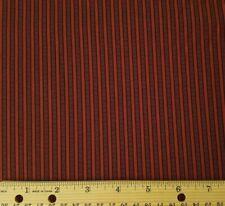 Marcus Fabrics Paula Barnes Companions Burgandy Ticking Stripe