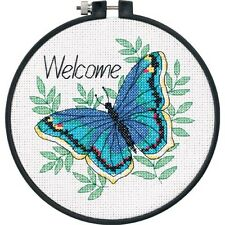 Dimensions D73147 Welcome Butterfly Beginners Counted Cross Stitch Mini-Kit 15cm