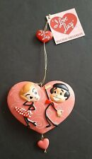 I Love Lucy Lucille Ball Ricky Ricardo Dancing Heart Christmas Ornament