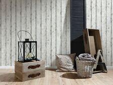 AS Creation Vliestapete Holzoptik Creme Grau Weiß Vlies Tapete Holz Vintage