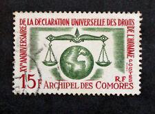 Sello COMORES / Stamp (Colonia) - Yvert & Tellier nº28 Matasellados (Col1)