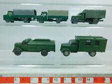 AV194-0,5# 5x Wiking H0 LKW Opel: Polizei + Militär/Bundeswehr 335/336, s.g.