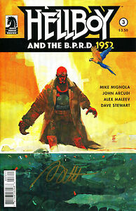 HELLBOY AND THE B.P.R.D. 1952 #3 SIGNED BY ARTIST ALEX MALEEV