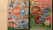 2x LOT Nick Jr. Favorites Holiday Christmas DVD Nickelodeon Kids Picks NEW fr/sh