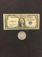 1935 Silver Certificate & PEACE  SILVER DOLLAR 90% SILVER!