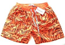 NEW MENS BALENCIAGA ORANGE SWIM SHORTS