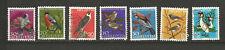 oiseaux 7 timbres oblitérés Suisse /T6050