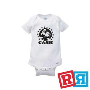Johnny Cash Baby Onesie Finger San Quentin Prison Bodysuit Gerber Organic Cotton
