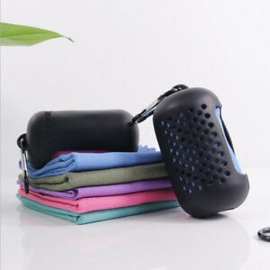 Outdoor Quick Drying Towel Sports Cold Towel With Silicone Protective Cover