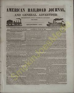 American Railroad Journal and General Advertiser Dated Jun 26 1847