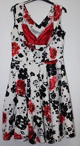 Grace Karin White Floral Dress Size L