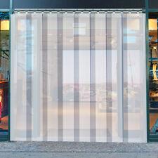 """VEVOR 4' x 7' Plastic Door Curtain Strip 48"""" x 84"""" Cooler Freezer Walk In 8"""" PVC"""