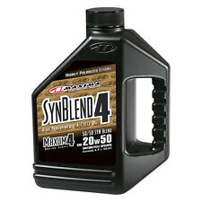 Maxima Racing Oils 359128B - SAE 20W-50 Maxum 4 Motorcycle Engine Oil 1 Gallon