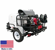 PRESSURE WASHER Hot Water - Trailer Mount - 200 Gal - 5 GPM - 4000 PSI - 12V AGX