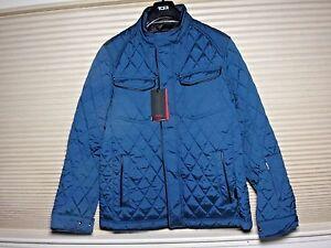 NWT TUMI Men's Signature Quilted Jacket Sz-M, Deep Sea