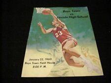 1960 Boys Town vs. Lincoln High School Basketball Program, NE