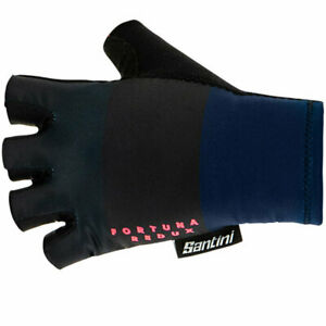 Fortuna Summer Cycling Gloves by Santini - in Blue - Size 2XL -  Made in Italy