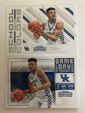 2018-19 Contenders 2 card RC Lot Kevin Knox School Colors + Game Day Ticket UK