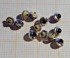 Lot mit 12 älteren,neuwertigen Aufzugskronen,weis.ca. 4,5X0,9X mm mit Stein