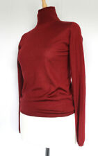 PRADA Vintage Fine Burgundy Cashmere and Silk Polo Neck Pullover UK SIZE 12