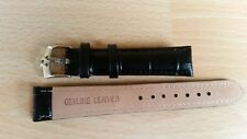 Black  18mm Genuine Leather watch strap / Omega Buckle