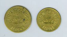 2 Tom George, JUNEAU, Alaska, Good For 50 Cents & $1.00 in Trade Tokens