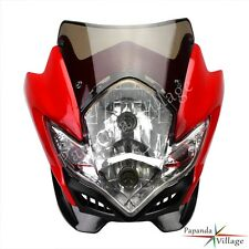 Universal Streetfighter Headlight Head Lamp Fairing For Honda CRF250R X 230F Red