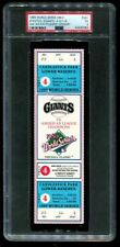 PSA Ticket Baseball 1989 World Series GM4 Full Athletics Giants -A's 4th Title