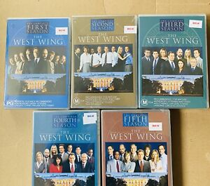 New Sealed Seasons 1-5 West Wing DVD Boxsets + Free Postage