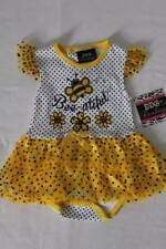 NEW Baby Girls Outfit Size 6 - 9 Month White Yellow Polka Dot Bodysuit Skirt Bee