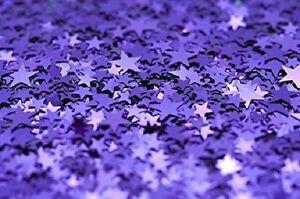 Purple Star Confetti Metallic Wedding Table Decoration Birthday Party Violet