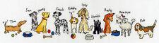 Bothy Threads Punto Croce Kit-Riga di cani